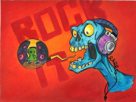 Rocking Zombie (inspired by CreatureBox) by sharkinc