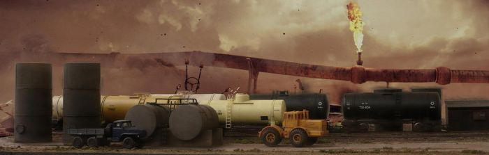 Fight for oil by jpachl