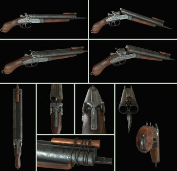 Zombie Hunter Sawed-off Shotgun by Nikola3D