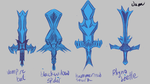 Animal Inspired Swords by BigEgg22