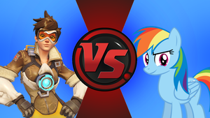 CFC|Tracer vs. Rainbow Dash by Vex2001