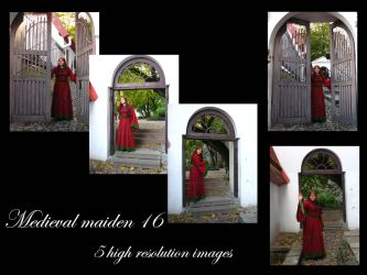 Medieval maiden 16 stock pack by Mithgariel-stock