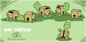 Box Turtles by bassanimation