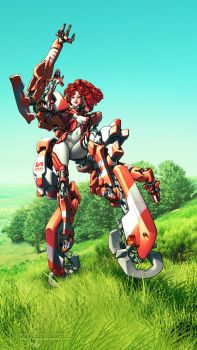 Mecha Bishoujo by kiwine