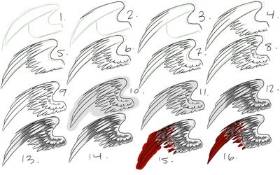 How I Draw Wings by Nixhil