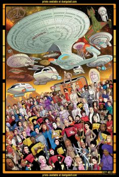 Next Generation 30th Anniv. 27x40 print FOR SALE by dusty-abell