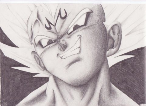 Majin Vegeta by madcroonage