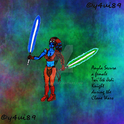 Aayla Secura SFW by y4ui89