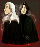 Lucius and Snape by LostEwe