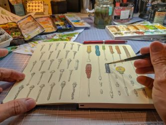 In my sketchbook I live a organised life by MattiasA