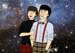 Second Doctor and Jamie McCrimmon by lea-draws-things