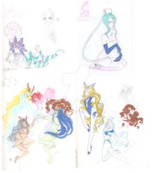 Sketchbook Scans : Sailor Moon Youma/Droid 2 by Dark-elfa
