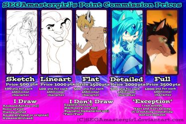 Point Commission Prices( Update ) by SEGAmastergirl