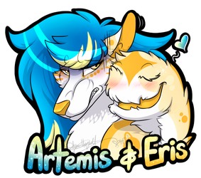 (badge) Artemis + Eris by LindsayPrower