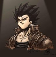 Young Vegeta Colored by syphonfx