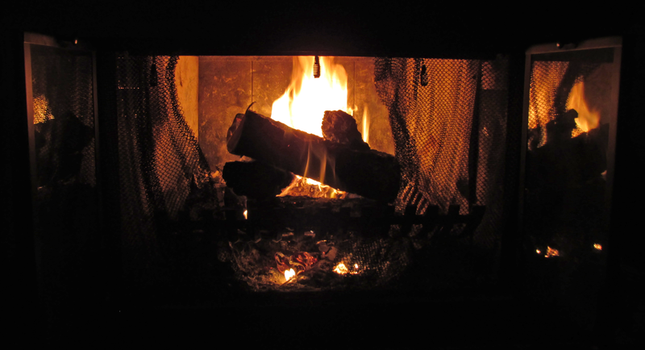 Roaring Fire on a Cold Night by TheStockWarehouse