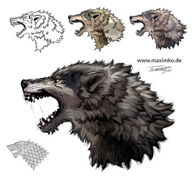 Wolf Tattoo - Game of Thrones by Maximko