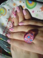 Pink Love Nail Design by AnyRainbow
