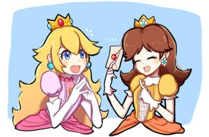Peach And Daisy by Tipanny