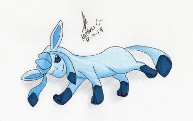 Glaceon is relaxed by MatthewGo707