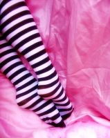 pink and stripes by sataikasia