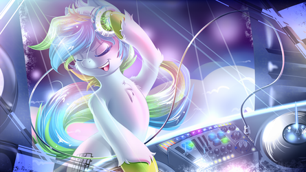 (COM) Megabyte Brony grooving it out. by KnifeH