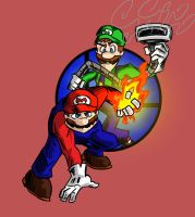 Super Smash Bros: Mario and Luigi by Jonny-Aleksey
