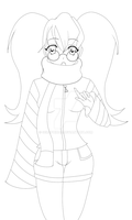 Penny Line Art WIP by Seraphinae
