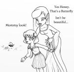 mother and daughter lineart by YummingDoe4
