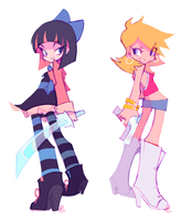 Panty and Stocking With Short Hair by paolamartinez12