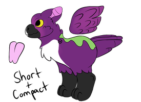 Adoptable: Violet-backed Starling by StripedPaws