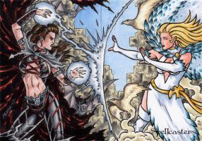 Spellcasters APs - Black Magic Vs. White Magic by ElainePerna