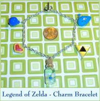 Legend of Zelda Charm Bracelet by YellerCrakka