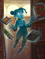 Spectral Librarian by KendallHaleArt