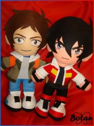 Keith and Lance plushie! by Momoiro-Botan