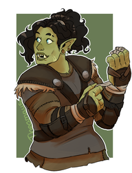 Half Orc Ranger by Thea0605
