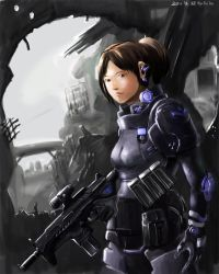 Female combat personnel by bookpoint