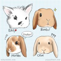 The Bunny bunch - Eddy Rambo Marbles Olive by chun52