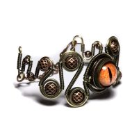 Steampunk Eye Bracelet Jewelry by CatherinetteRings