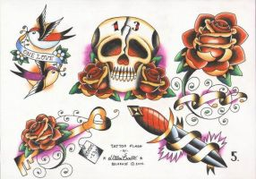 Tattoo Flash set 1, sheet 5 by xxxcaomacoxxx