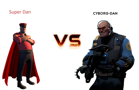 Super Dan vs Cyborg-Dan by Sharpe-Fan