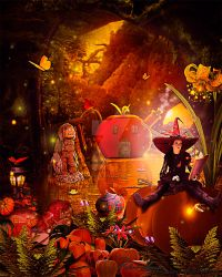 The Witch of Pumpkinlandia by Renata-s-art