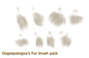 Fur brush pack by Oogeepatogoa