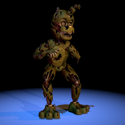 [FNAF/C4D]ScrapTrap Custom Extras Render by CaramelloProductions