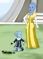 Liara's First Dig Site by Tarisha