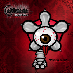 Kawaii Skeleton Flower by desness