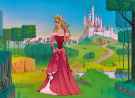 Princess Aurora and her Castle by Applefied