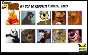 My Top Ten Favorite Bear Characters by Michaelsar