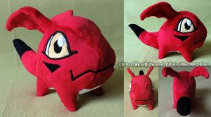 Gigimon Plush SOLD by ShiroTheWhiteWolf