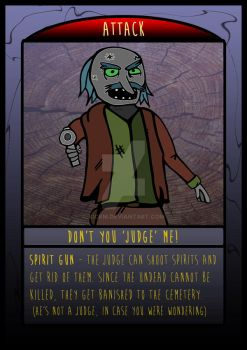 The Frighteners Card 4 - The Judge by kickm
